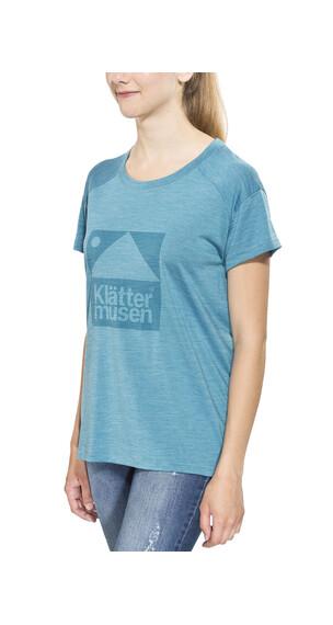 Klättermusen Eir t-shirt Dames turquoise